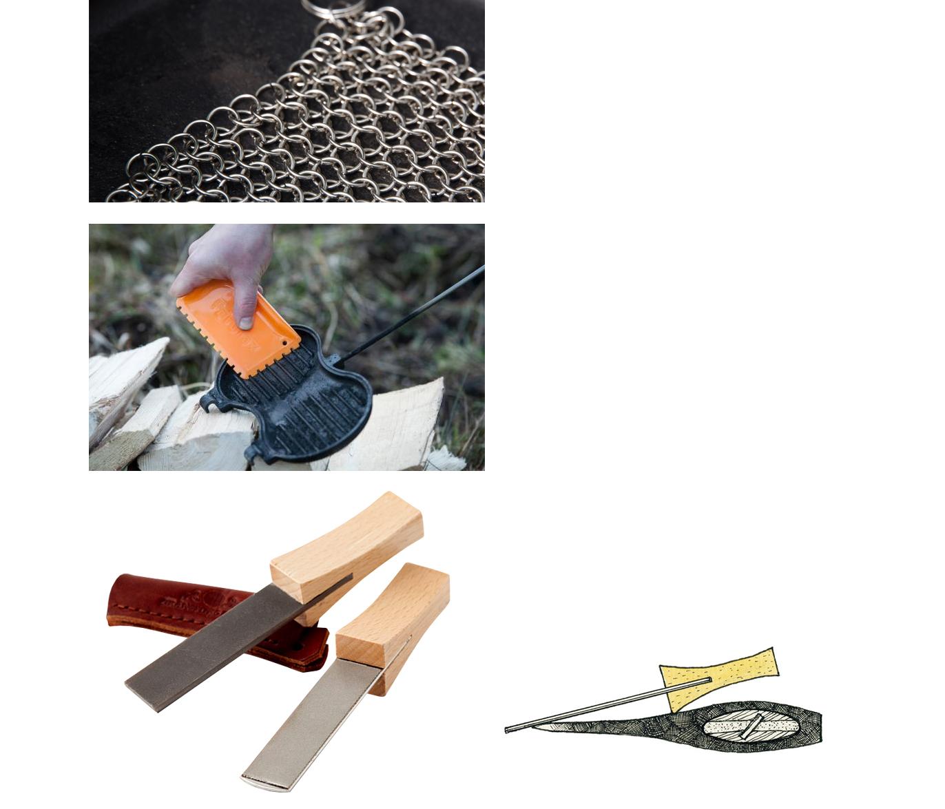 チェーンメイルクリーナー、ファイルシャープナー、ダイヤモンドシャープナー